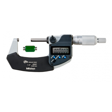 Mitutoyo, Digital Micrometer IP65, Inch/Metric 1-2 inch, with Output, 293-331-30