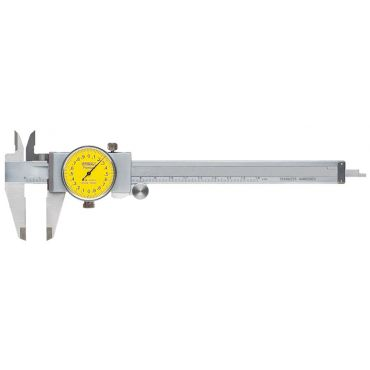 Fowler, 0-150mm Yellowface Machinist Grade Dial Caliper, 52-008-709-0