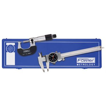 Fowler, Blackface Caliper and Micrometer Measuring Set ,52-229-710-0
