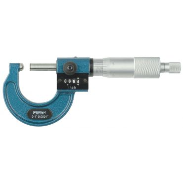 """Fowler, 0-1"""" Digit Counter Ball-Anvil Micrometer with ball anvil and spindle, 52-244-301-1"""