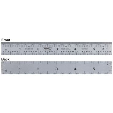 "Fowler, 18"" 4R Rigid Steel Rule, 52-330-018"
