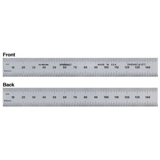 Fowler, 600mm Satin Chrome Steel Rule, 52-380-017-0