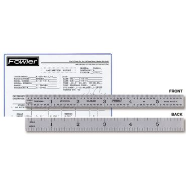 "Fowler, 12"" Flexible Certified Rule, 52-411-012"