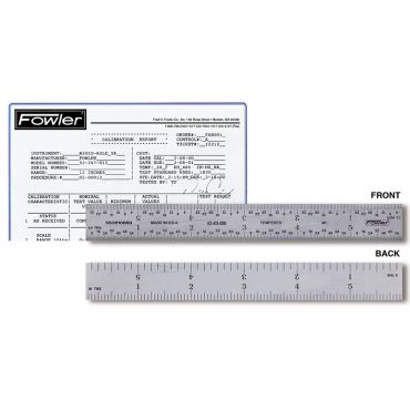 "Fowler, 12"" Rigid Certified Rule, 52-413-012"