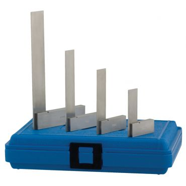 "Fowler, 2"", 3"", 4"" and 6"" Hardened Steel Square Set, 52-432-246-0"