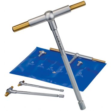 "Fowler, 6"" Titanium Coated Telescoping Gage Set, 52-470-000-0"