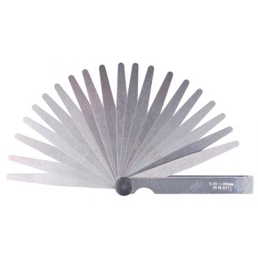 Fowler, Inch 26 Leaf Set Tapered Thickness Gage, 52-485-006-0