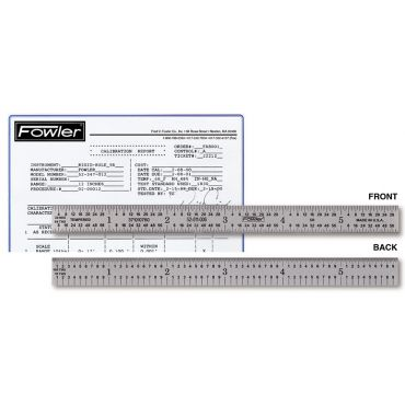 "Fowler, 12"" Flexible Certified Rule, 52-511-012"