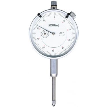 """Fowler, 0.250"""" Whiteface Premium Dial Indicator with Certificate of Calibration, 52-520-127-0"""