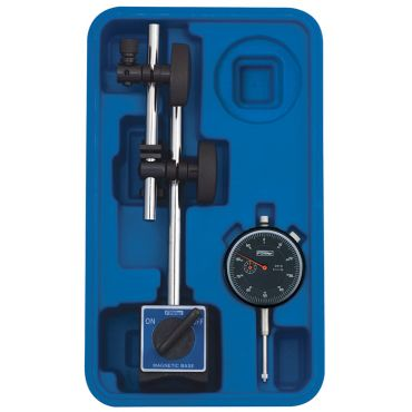 Fowler, Fine Adjust Mag Base with Dial Indicator Combo, 52-520-199-0