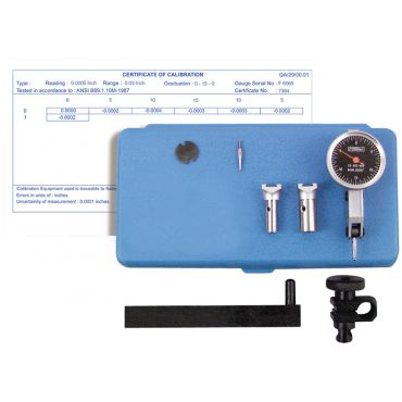 Fowler, Test Indicator Kit with Certificate of Calibration, 52-562-999-0