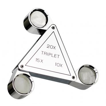 Fowler, 10X, 15X and 20X Triplet Lens Magnifier, 52-660-003-0