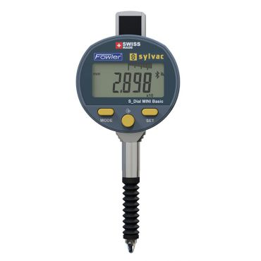 Fowler, BLUETOOTH Mini S Dial Electronic Indicator, Accuracy 0.0002 inch - 0.005mm, 54-520-690-BT