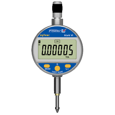 "Fowler, 0-1""/25mm Mark VI Electronic Indicator with ISO/A2LA Certification and Lifetime Warranty, 54-530-155-C"