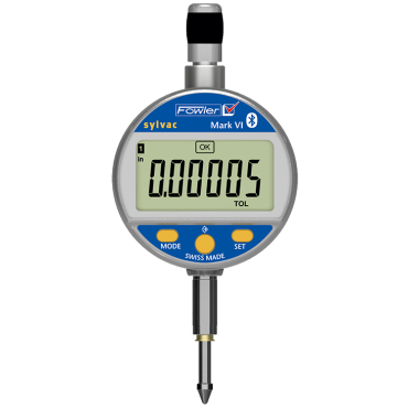 "Fowler, 0-1""/25mm Mark VI Electronic Indicator with Bluetooth Technology, 54-530-355-0"