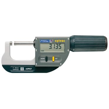 """Fowler, 0-1.18""""/0-30mm Rapid-Mic Electronic Micrometer with ISO/A2LA Certification and Lifetime Warranty, 54-815-030-C"""