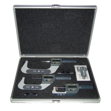 """Fowler, 0 - 4""""/0 - 102mm BLUETOOTH Rapid-Mic Electronic Micrometer Set with Lifetime Warranty"""