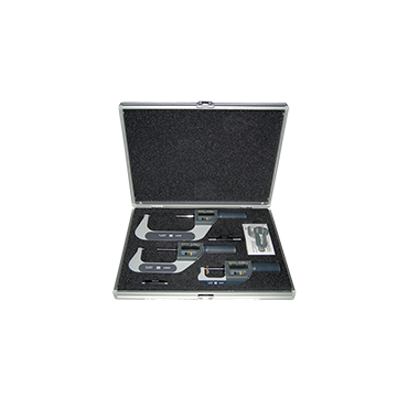 """Fowler, 0 - 4""""/0 - 102mm Rapid-Mic Electronic Micrometer Set with Lifetime Warranty"""