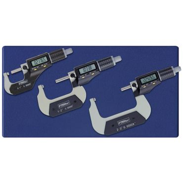 "Fowler, 0-3""/0-75mm Xtra-Value II Electronic Micrometer Set, 54-870-103-0"