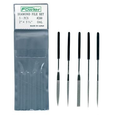Fowler ,5 Piece Diamond File Set ,55-160-777