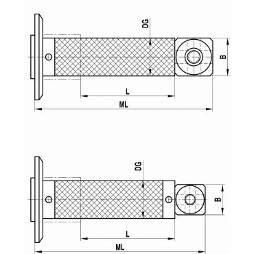 Renishaw, M5 extension for adaptor plate, carbon fibre, ML 246.5 mm, DG/D 20 mm, for Zeiss applications, A-5555-1984