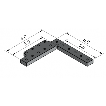 Inspection Arsenal, Angle Plate-Stop for Loc-N-Load™- Inch, LNL-ANGL-0603