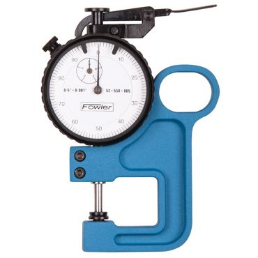 Fowler,10mm Heavy Duty Dial Thickness Gage, 52-550-020