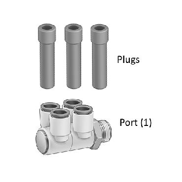 Inspection Arsenal, Multi-Vise Port with Plugs for Rapid-Loc™, RL-Port-Plugs