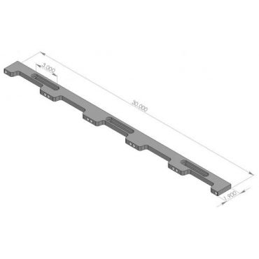 Inspection Arsenal, Loc-N-Load™ Docking Rails & End Caps –  30 Inch, LNL-DOCK-30