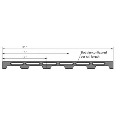 Inspection Arsenal, Loc-N-Load™ Docking Rails & End Caps –  12 Inch, LNL-DOCK-12