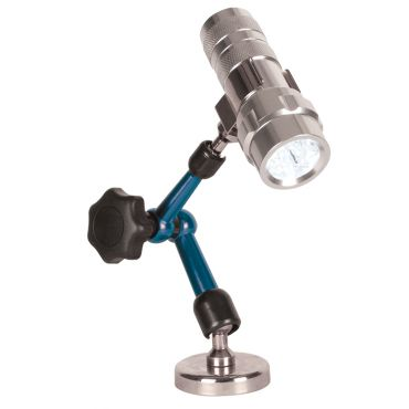 Fowler, Large Diameter Magnetic Base with Articulating Arm and LED Flashlight, 52-630-460