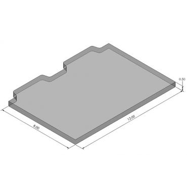 Inspection Arsenal, Open-Sight™ Fixture Plate – Polycarbonate - Inch, Blank Plate 12 inch x 8 inch, OS-PLT-1208-B