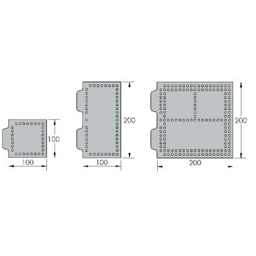 Inspection Arsenal, Open-Sight™ Fixture Plate – Polycarbonate - Metric, Plate 200 x 100mm, OS-M200100