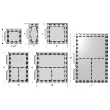 Inspection Arsenal, Open-Sight™ Fixture Plate – Polycarbonate - Inch, Plate 18 inch x 12 inch, OS-PLT-1812