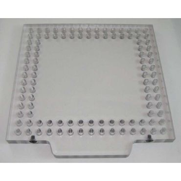 Inspection Arsenal, Open-Sight™ Fixture Plate – Polycarbonate - Inch, Plate 6 inch x 6 inch, OS-PLT-0606
