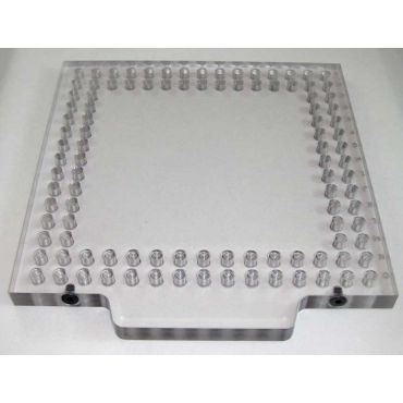 Inspection Arsenal, Open-Sight™ Fixture Plate – Polycarbonate - Inch, Plate 8 inch x 4 inch, OS-PLT-0804