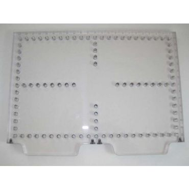 Inspection Arsenal, Open-Sight™ Fixture Plate – Polycarbonate - Inch, Plate 12 inch x 8 inch, OS-PLT-1208