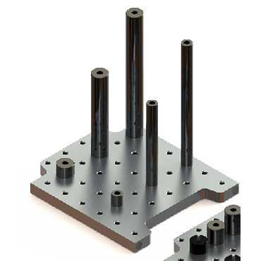 Inspection Arsenal, Steel Shaft Stand-offs – Inch, Steel Shaft, .50 inch dia. x 4 inch h., STOF-050-400