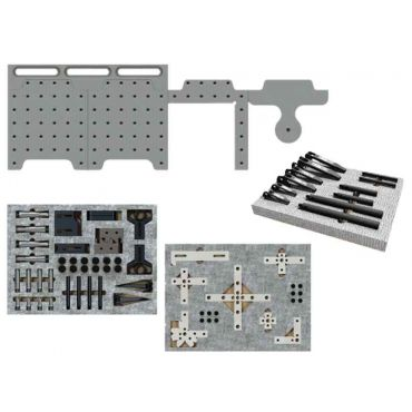 Inspection Arsenal, CMM Fixture System (12″ with Complete Clamp Kit), SYS05_DK12TR02