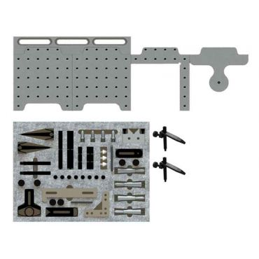 Inspection Arsenal, CMM Fixture System (12 inch Dock with Starter Clamp Kit), SYS05_DK12TR03