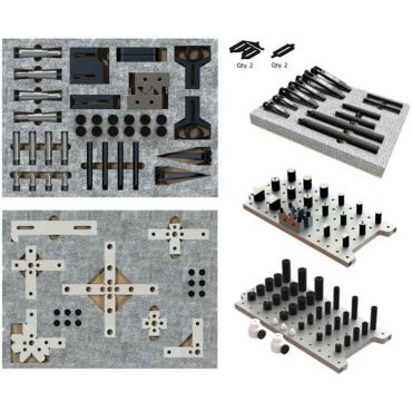 Inspection Arsenal, CMM Work Holding WORKS Kit (158 pcs) - Inch, TR-KIT-01