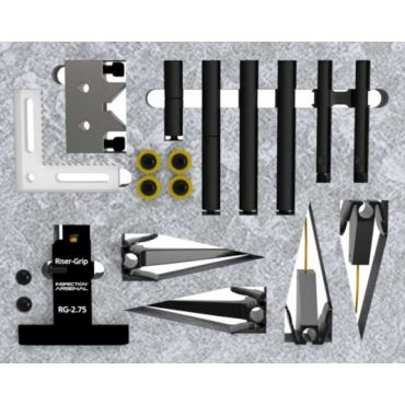 Inspection Arsenal, Open-Sight™ Vision Workholding Kit with Riser-Grip™ - Metric, VIS-KIT-02M